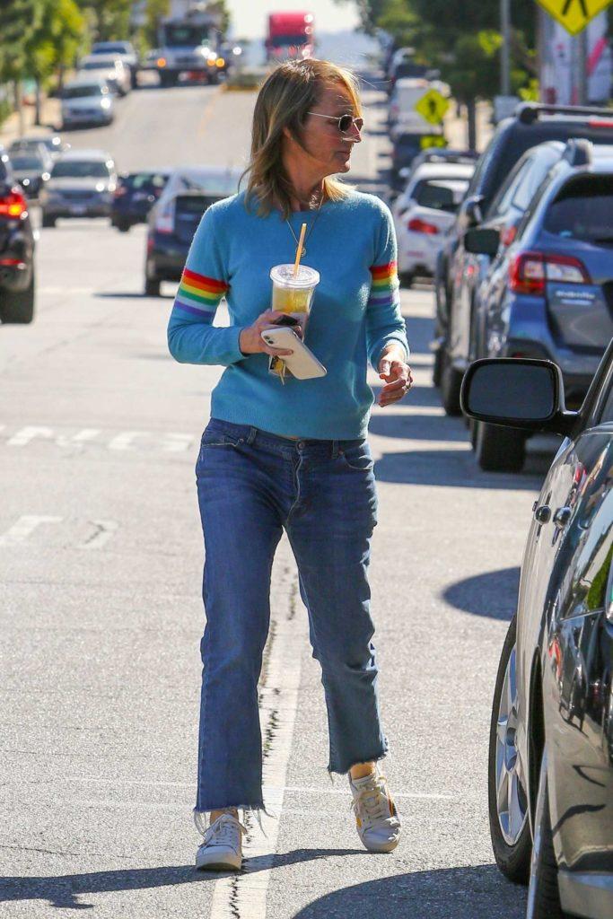 Helen Hunt in a Blue Sweater