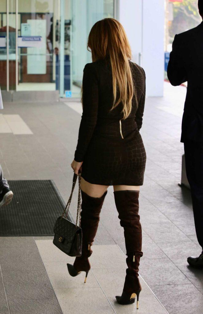 Jennifer Lopez in a Snakeskin Print Dress