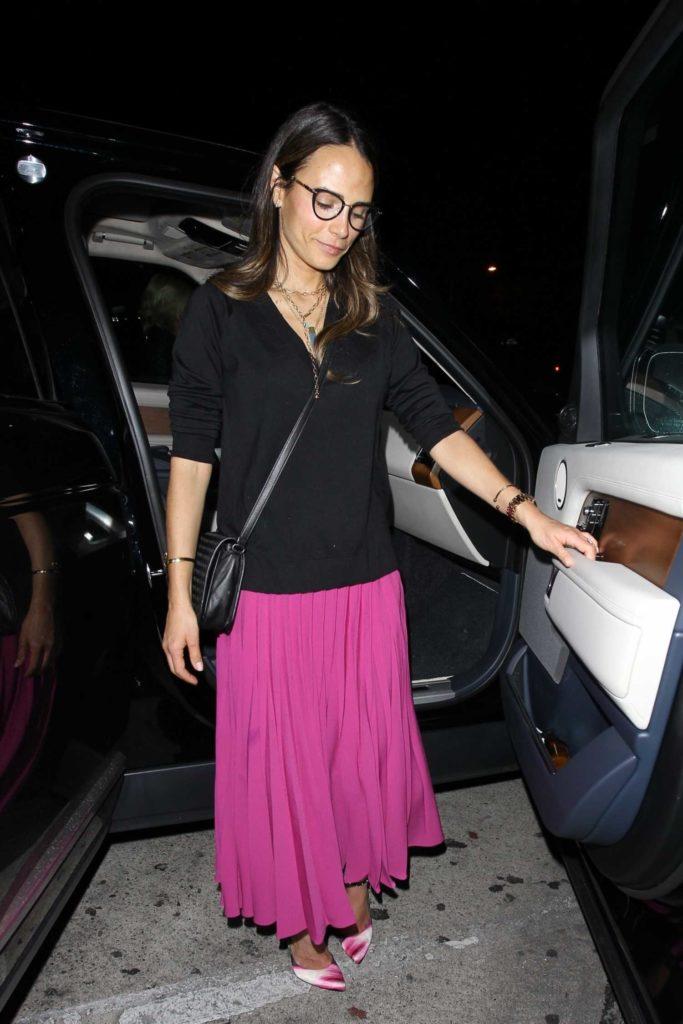 Jordana Brewster in a Pink Skirt