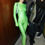 Kendall Jenner in a Neon Green Suit Arrives at 2020 Brit Awards After Party in London