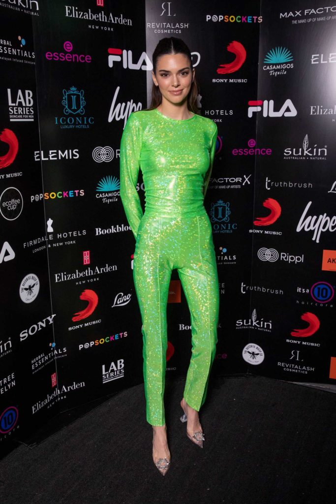 Kendall Jenner in a Neon Green Suit