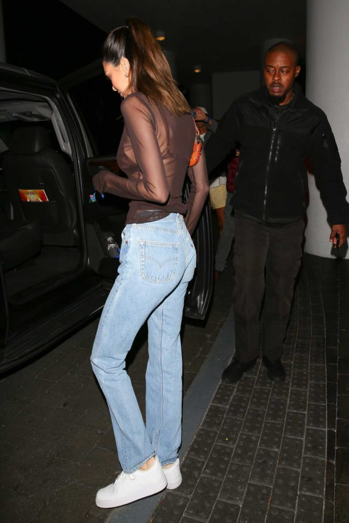 Kendall Jenner in a See-Through Blouse