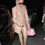 Khloe Kardashian in a Beige Suit Arrives at Carousel Restaurant in Glendale