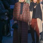 Kristen Bell in a Plaid Trench Coat Was Seen Out in New York City