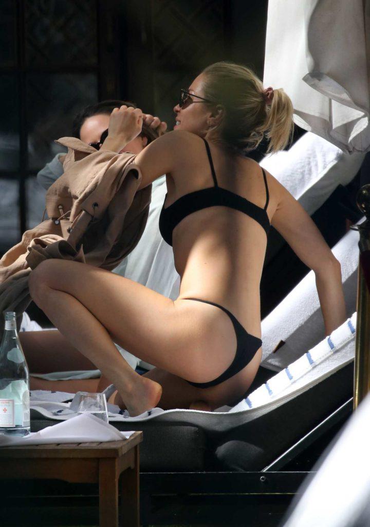 Kristin Cavallari in a Black Bikini