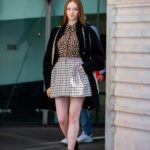 Larsen Thompson in a Leopard Print Blouse Was Seen Out in Milan