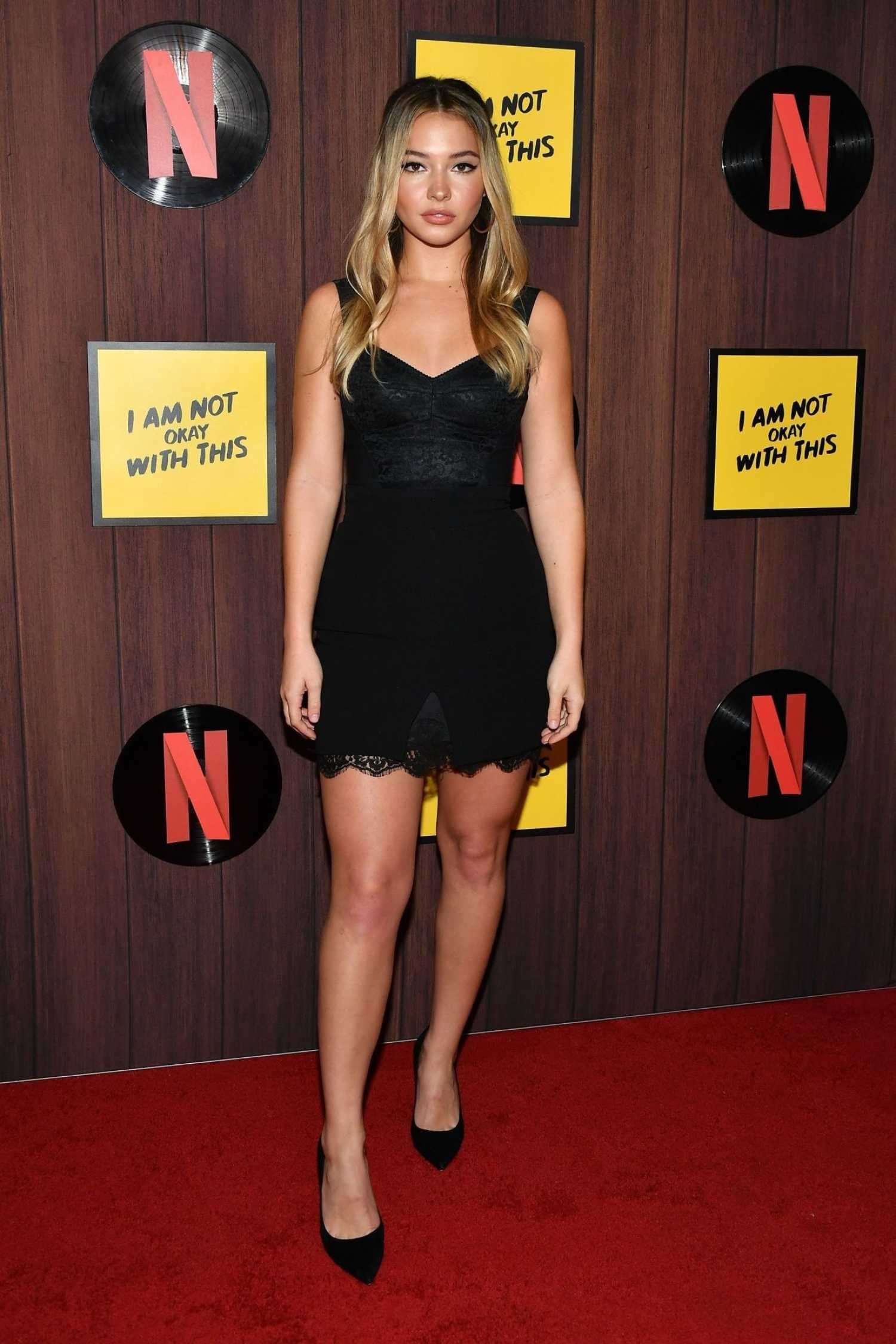 Madelyn Cline Attends I Am Not Okay with This Premiere in