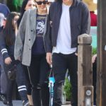 Miley Cyrus in a Gray Blazer Was Seen Out with Cody Simpson in Calabasas