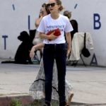 Natalie Portman in a White Tee Was Seen Out with a Friend in Los Angeles