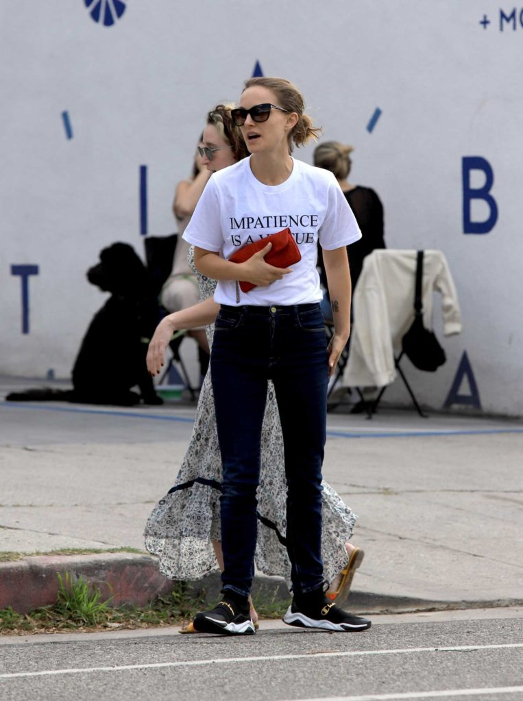 Natalie Portman in a White Tee