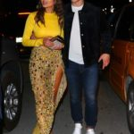 Olivia Culpo in a Yellow Top Leaves a Date Night at Prime One Twelve in Miami