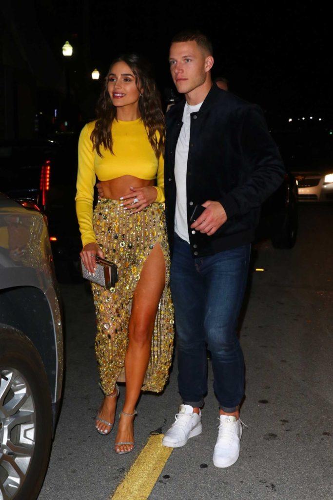 Olivia Culpo in a Yellow Top