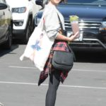 Sarah Hyland in a Black Leggings Was Seen Out in Hollywood