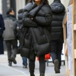 Shay Mitchell in a Black Puffer Coat Was Seen Out with Her Boyfriend in SoHo, New York