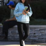Shay Mitchell in a Blue Hoody Was Seen Out in Studio City