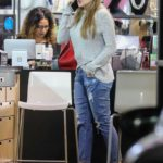 Sofia Vergara in a Blue Ripped Jeans Gets Some Shopping Done at Beauty Collection Store in West Hollywood