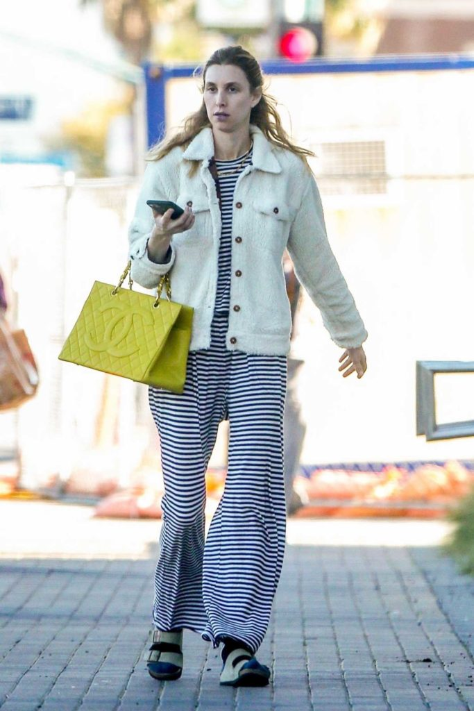 Whitney Port in a Striped Pants