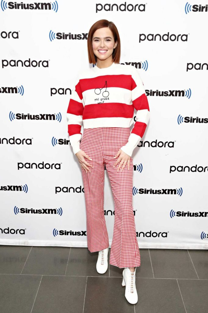 Zoey Deutch in a Red Pants
