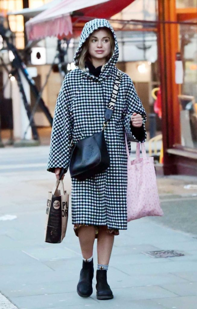 Amelia Windsor in a Checked Coat