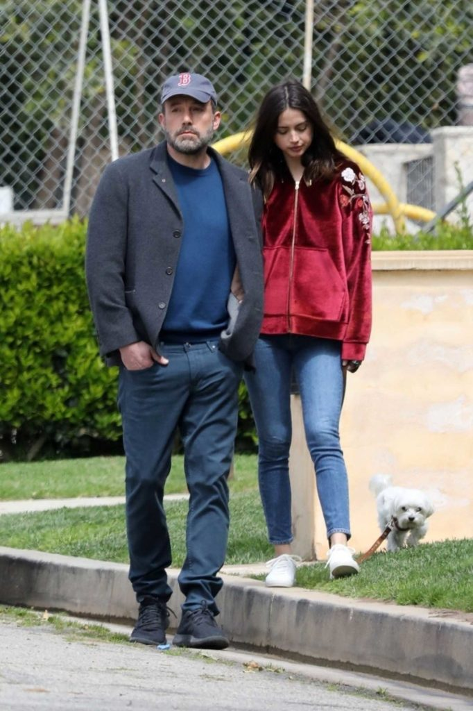Ana de Armas in a Red Track Jacket