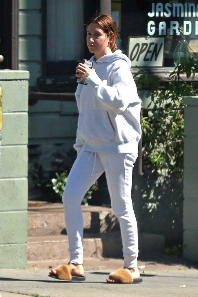Ashley Tisdale in a White Hoody