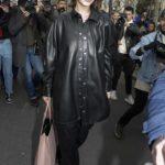 Bella Hadid Leaves 2020 Miu Miu Fashion Show in Paris