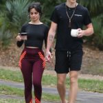 Camila Cabello in a Black Top Was Seen Out with Shawn Mendes in Miami