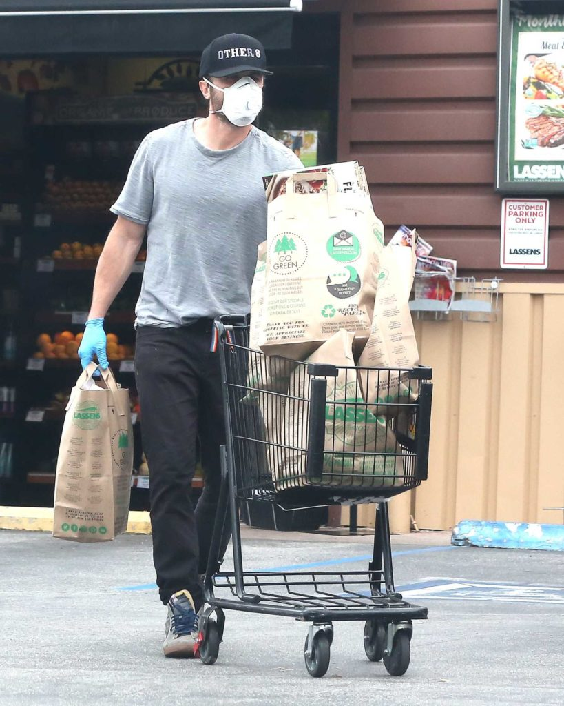 Casey Affleck in a Surgical Face Mask