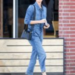Charlize Theron in a Denim Jumpsuit Was Seen Out in Los Angeles
