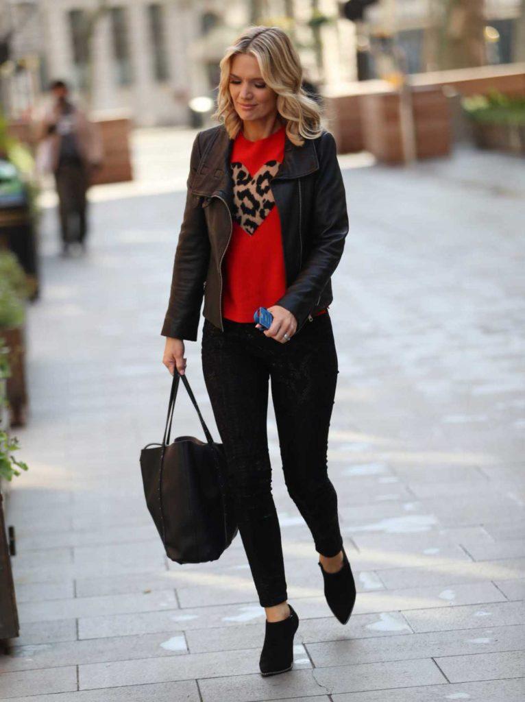 Charlotte Hawkins in a Black Jacket
