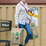 Emma Roberts in a Beige Sweater Goes Shopping in Los Angeles