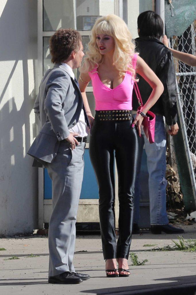 Emmy Rossum in a Pink Top