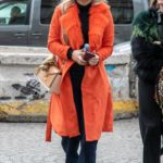 Florence Pugh in an Orange Coat Was Seen Out in Paris