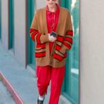 Gwen Stefani in a Red Jumpsuit Was Seen Out in Los Angeles