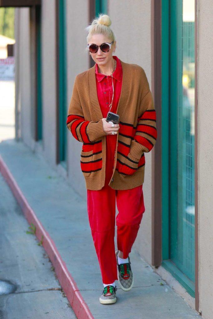 Gwen Stefani in a Red Jumpsuit