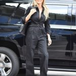 Heidi Klum in a Black Jumpsuit Was Seen Out in Pasadena