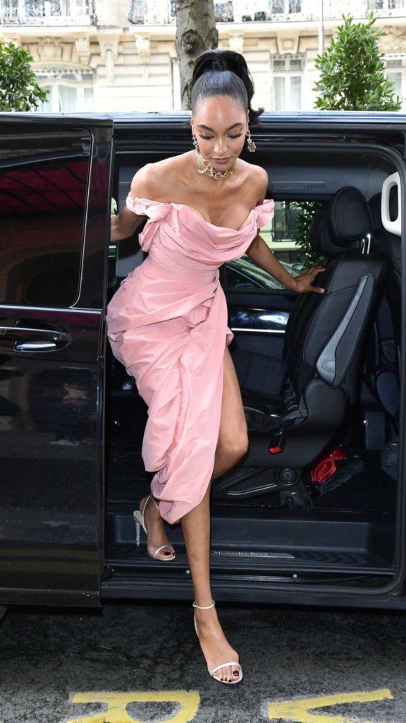 Jourdan Dunn in a Pink Dress