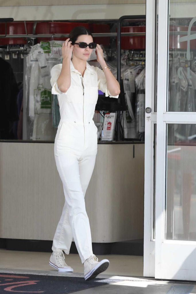 Kendall Jenner in a White Jumpsuit