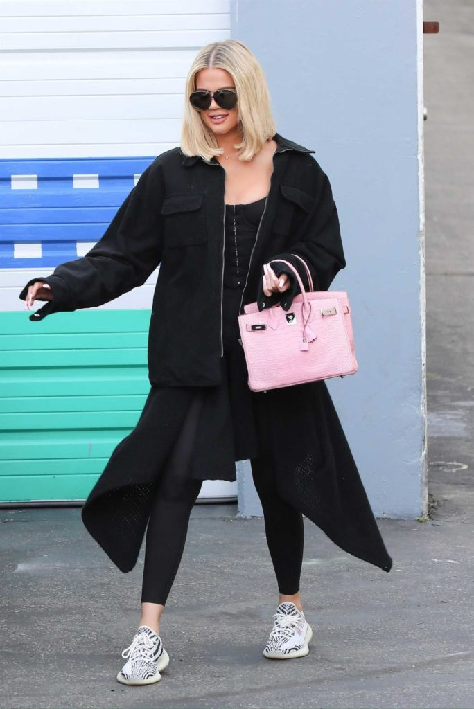 Khloe Kardashian in a Black Jacket