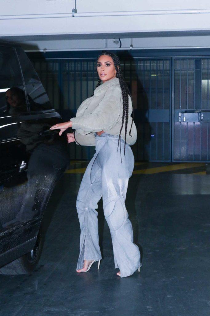 Kim Kardashian in a Beige Top