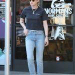 Kristen Stewart in a Black Tee Goes Shopping in Los Feliz