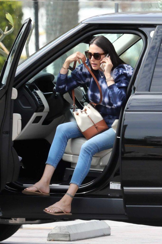 Lauren Silverman in a Blue Jeans