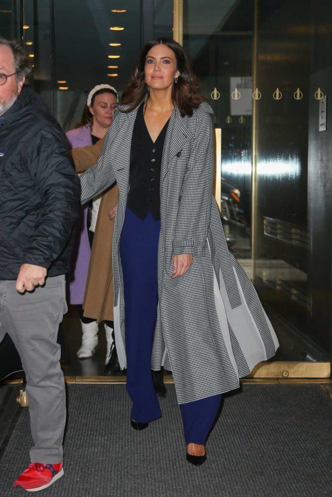 Mandy Moore in a Gray Coat