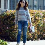 Mila Kunis in a Blue Ripped Jeans Was Seen Out in Los Angeles