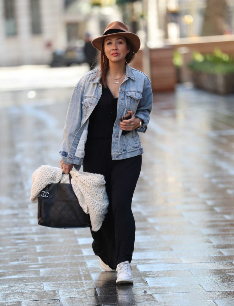 Myleene Klass in a Tan Hat