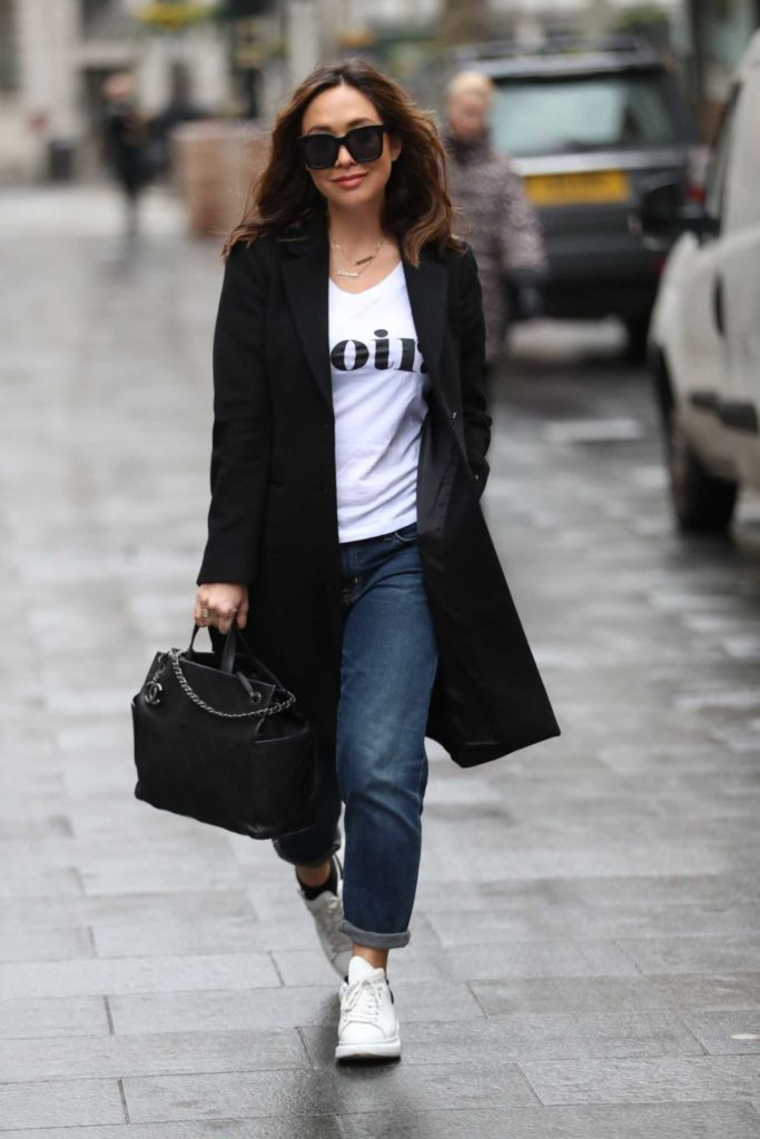 Myleene Klass in a White Sneakers