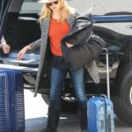 Natalie Dormer in a Tan Hat Arrives at LAX Airport in Los Angeles