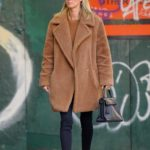 Nicky Hilton in a Tan Fur Coat Was Seen Out in New York City