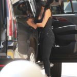 Nicole Scherzinger in a Black Medical Mask Arrives at LAX Airport in Los Angeles