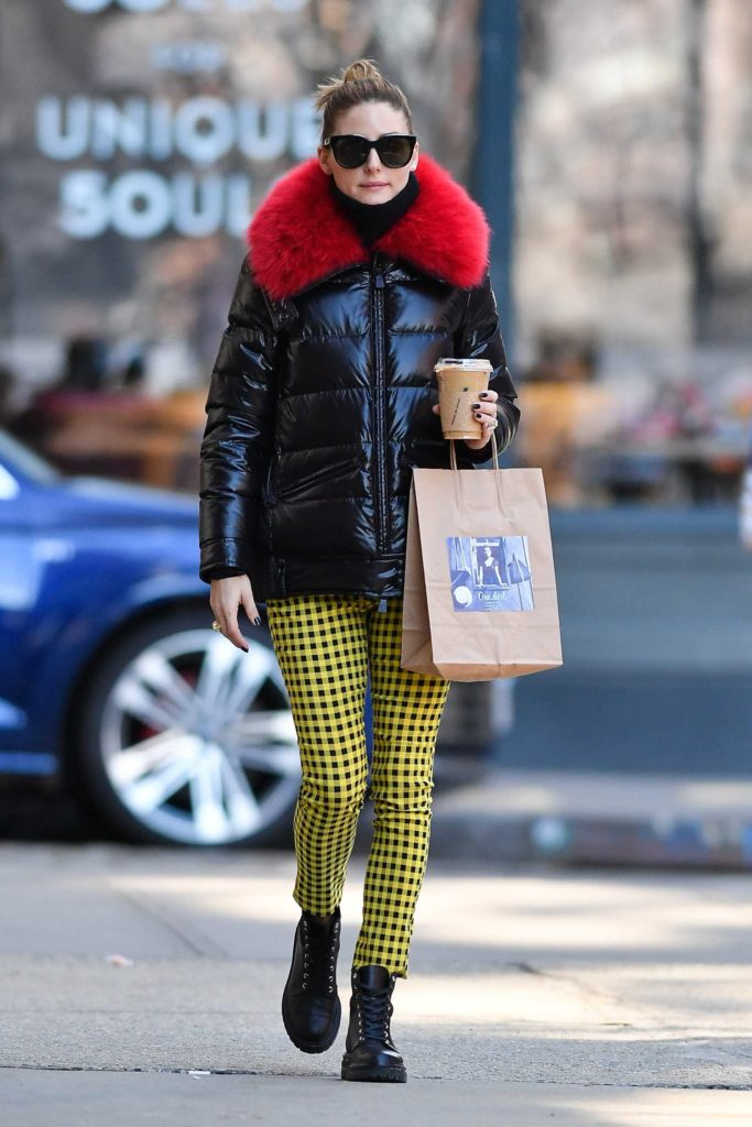 Olivia Palermo in a Black Puffer Jacket